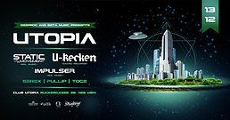 Party Flyer Utopia feat U-Recken, Static Movement, Impulser 13 Dec '19, 22:00