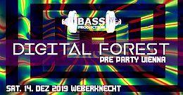Party Flyer Digital Forest Festival Pre Party Vienna 14 Dec '19, 22:00