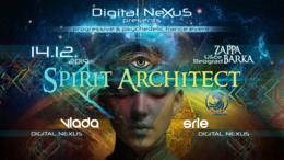 Party Flyer Spirit Architect LIVE @Belgrade 14 Dec '19, 22:00