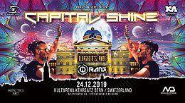 Party Flyer ★ CAPITAL SHINE ★ Psycadelic X-Mas Bern w/ Ranji, MB-Future, Tom, Simply Simon 24 Dec '19, 22:00