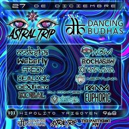 Party Flyer Dancing Budhas Vs Astral Trip 27 Dec '19, 23:30