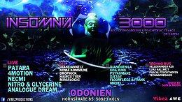 Party Flyer Insomnia 3000 / Progressive / Psychedelic Trance & Techno 27 Dec '19, 22:00