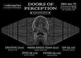 Party Flyer Doors of Perception - Psytrance Party 28 Dec '19, 23:00
