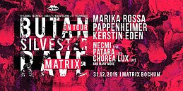 Party Flyer Butan Silvester Rave 31 Dec '19, 21:00