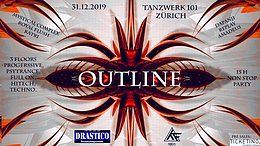 Party Flyer OUTLINE NEW YEARS SPECIAL 31 Dec '19, 20:00