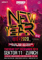 Party Flyer Synergy - New Year: Sektor11 31 Dec '19, 21:00