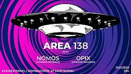 Party Flyer AREA 138 | Finest Progressive Psytrance 11 Jan '20, 23:00