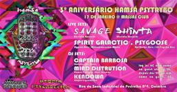 Party Flyer Hamsá Psytrybo 3º Aniversario at Massas Club // Parte 1 17 Jan '20, 23:30