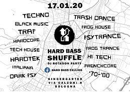 Party Flyer Hard bass Shuffle - Dj Rotation Party 17 Jan '20, 23:00