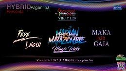 Party Flyer Psytrance night at PPB // Hybrid Argentina // Rivadavia st . 1392 17 Jan '20, 23:00