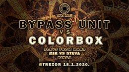 Party Flyer BYPASS UNIT VS COLORBOX Special live @Trezor 18 Jan '20, 23:00