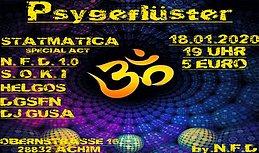 Party Flyer Psygeflüster 18 Jan '20, 19:00