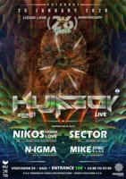 Party Flyer Liquid Love 26th Anniversary Hujaboy Live / 25-1-20 25 Jan '20, 23:30