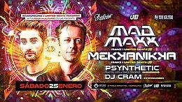 Party Flyer Mad Maxx & Mekkanikka (UB records) meets Bassground! 25 Jan '20, 23:30