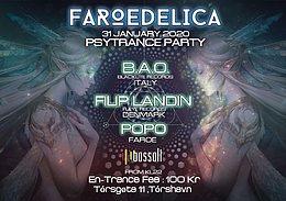 Party Flyer Faroedelica 31 Jan '20, 21:30
