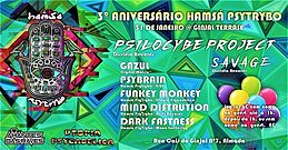 Party Flyer Hamsa Psytrybo 3º Aniversario at Ginjal Terrasse 31 Jan '20, 23:00