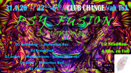 Party Flyer Psy Fusion by Distortion Rec. 31 Jan '20, 22:00