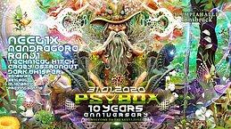 Party Flyer Psybox - 10 Years Anniversary - Olympiahalle Innsbruck 31 Jan '20, 22:00