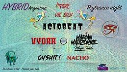 Party Flyer Psytance night at PPB // 50P h 2am // Hybrid Argentina 31 Jan '20, 23:00