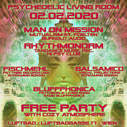 Party Flyer Psychedelic Living Room #5 2 Feb '20, 22:00