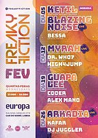Party Flyer FREAKY FICTION 5 Feb '20, 23:00