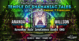 Party Flyer PsyPort Collective presents - Temple of Shamaniac Tales 7. Feb. 20, 22:00
