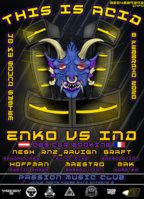 Party Flyer This is acid. Enko e IND OBS CUR 8 Feb '20, 22:00