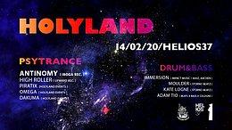 Party Flyer 1 Year Holyland w/ Antinomy (IBOGA Records) + Drum&Bass Floor 14 Feb '20, 23:00