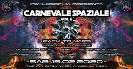 Party Flyer ॐ Carnevale Spaziale vol.6 ॐ Special guest: Back to Mars 15 Feb '20, 22:00