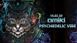 Party Flyer Psychedelic VIBE w/ Omiki & friends 15 Feb '20, 23:00
