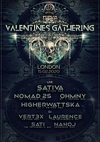 Party Flyer The Psychedelic Way & Psynon Records Valentines Gathering 15 Feb '20, 22:00