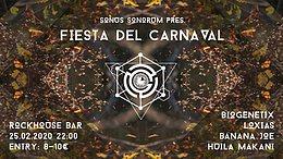 Party Flyer Sonus Sonorum pres. Fiesta Del Carnaval 25. Feb. 20, 22:00
