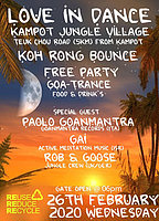 Party Flyer Koh Rong Bounce - Jungle crew 26. Feb. 20, 18:00