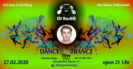 Party Flyer DANCE! to TRANCE 27 Feb '20, 21:00