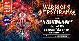 Party Flyer Warriors Of Psytrance: Final Round! 28 Feb '20, 23:30