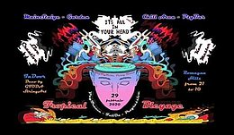 Party Flyer It's all in your head (tropical bleyage)serbia 28. Nov. 20, 19:00