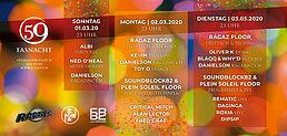 Party Flyer Basler Fasnacht: Die drey scheenschte Dääg (2 Floors) - by Ragaz inc 2 Mar '20, 23:00