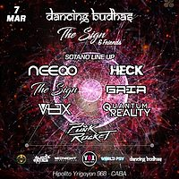 Party Flyer Dancing Budhas + The Sign & Friends 7 Mar '20, 23:30