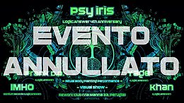 Party Flyer Psy Iris // Logic.Answer 4th Anniversary 7 Mar '20, 22:30