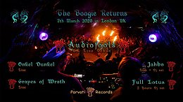Party Flyer Parvati Special in London: AUDIOFOOLS / ONKEL DUNKEL / JAHBO & MORE 7 Mar '20, 22:00