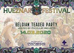 Party Flyer Hueznar Festival - Belgian Teaser Party 14 Mar '20, 21:00