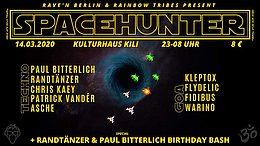 Party Flyer SPACEHUNTER 14 Mar '20, 23:00