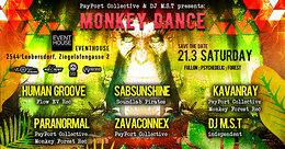 Party Flyer PsyPort Collective & DJ MST present: Monkey Dance 21 Mar '20, 22:00