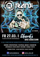 Party Flyer RANJI [Israel] l Fr 23.03. l Psy 4 Hai l Sharks Bad Doberan 23 Apr '21, 22:00