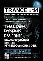Party Flyer TRANCElucid (5th Birthday) 10 Apr '20, 22:00