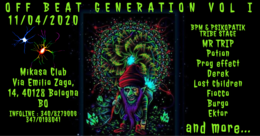 Party Flyer OFF BEAT Generation VOL.1 (Minimal/Progressive Party) 11 Apr '20, 22:00
