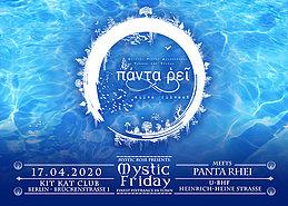 Party Flyer The Mystic Rose meets Panta Rhei 17 Apr '20, 23:00