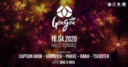 Party Flyer GoaGoa Mainz 18 Apr '20, 22:00