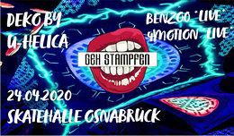 Party Flyer Geh Stampfen! mit Benzoo und 4Motion | Skatehalle Osnabrück 26 Jun '20, 23:00