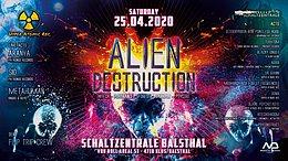 Party Flyer Alien Destruction 25 Apr '20, 22:00